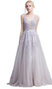 Dresses & Skirts - Silver blue formal gown